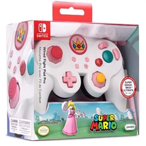 Image of Nintendo Switch Smash Pad Pro Peach Controller Med Ledning (0708056065355)