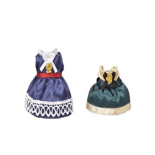 Image of Sylvanian Families, Town Girl, udklædningssæt, blå og grøn (5054131060216)