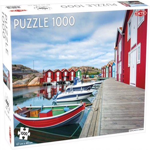 Image of Tactic - Puzzle 1000 pc - Fishing huts in Smögen (6416739566825)