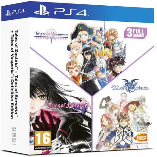 Image of Tales of Vesperia + Tales of Berseria + Tales of Zestiria Compilation, PS4 (3391892007947)
