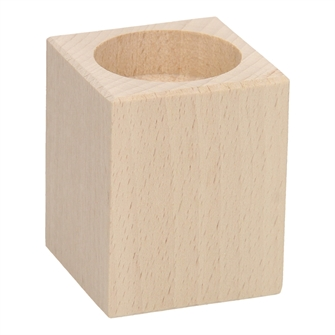 Image of Tealight holder Square Beechwood. (8719348006569)