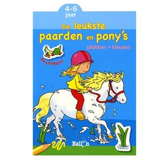 Image of   Malebog med heste og ponyer