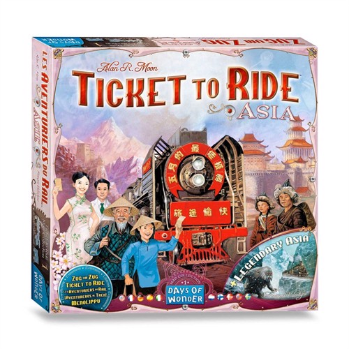 Image of Ticket to Ride Asia Board Game (824968117736)