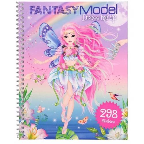 Image of Topmodel - Fantasy dress me up klistermærkebog (4010070438722)