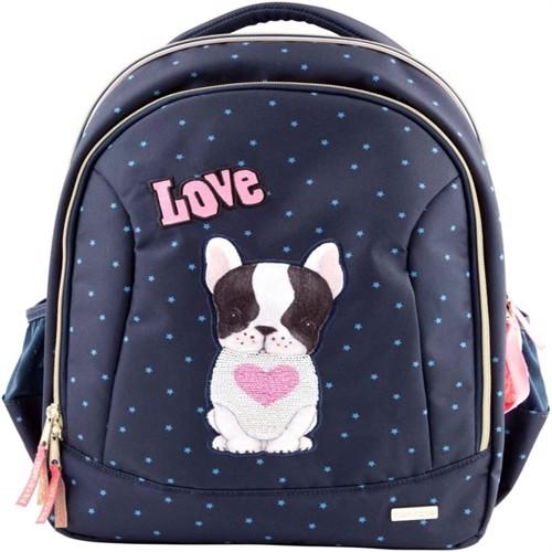 Image of Top Model, skoletaske med hund, blå (4010070420680)