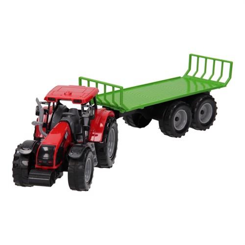 Image of Traktor med ladevogn 1:32