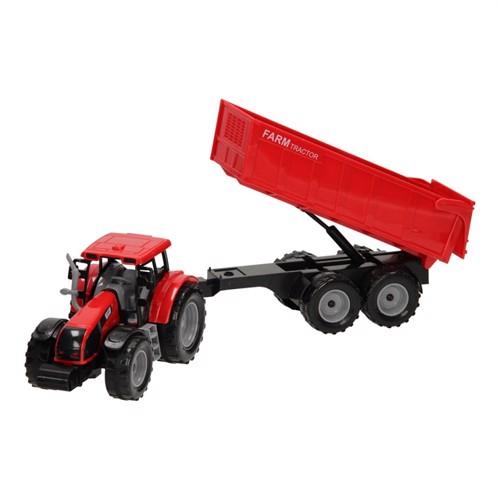 Image of Traktor med trailer 1:32