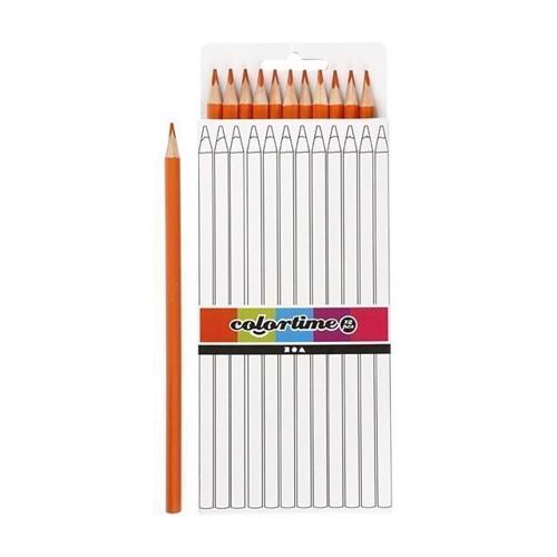Image of Colortime - Trekantet Farveblyanter - Orange, 12stk