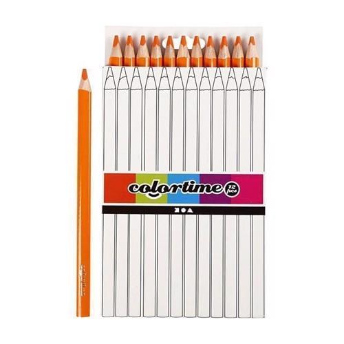 Image of Colortime - Trekantet Jumbo Farveblyanter - Orange, 12stk