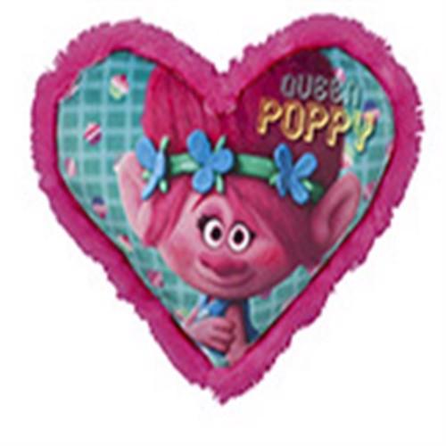 Image of Trolls Poppy Hjerteformet Pude