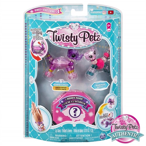 Image of Twisty pets 3 pakke tomperz elefant baby puff killing (0778988570272)