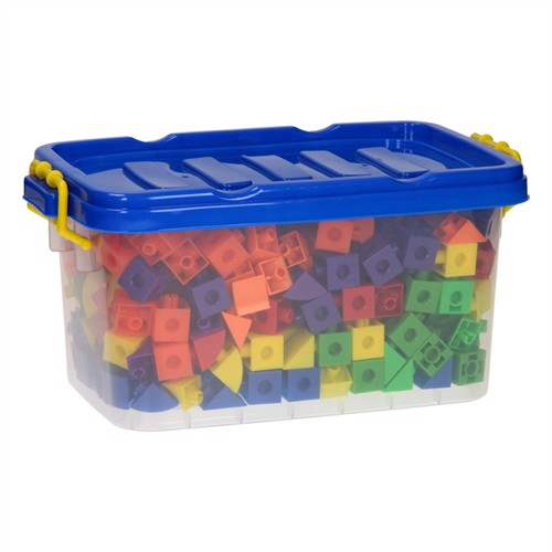 Image of Forskellige typer trankanter og kuber i opbevaringskasse 360 dele