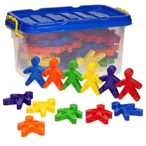 Image of Forskellige tyber kagemænd i opbevaringskasse 60 dele