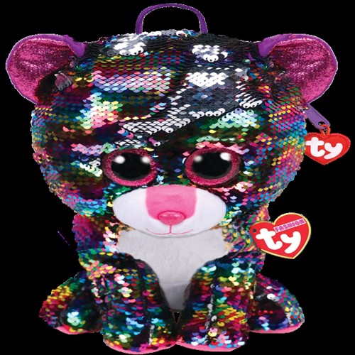 Image of Ty Plush - Sequin Backpack - Dotty the Leopard (TY95024) (0008421950249)