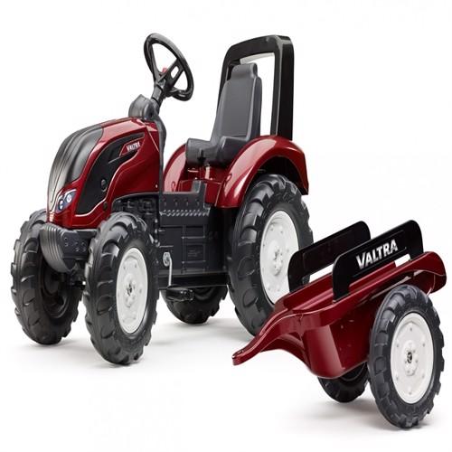 Image of Valtras 4 Pedal Traktor Til Børn Med Trailer