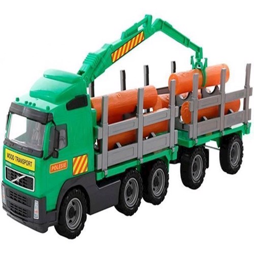 Image of Wader - Volvo PowerTruck - tømmer lastbil med trailer (4810344058348)