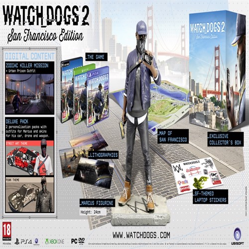 Image of Watch Dogs 2 San Francisco Edition Nordic - XBOX ONE (3307215968789)