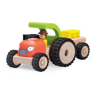 Image of Wonderworld traktor med trailer