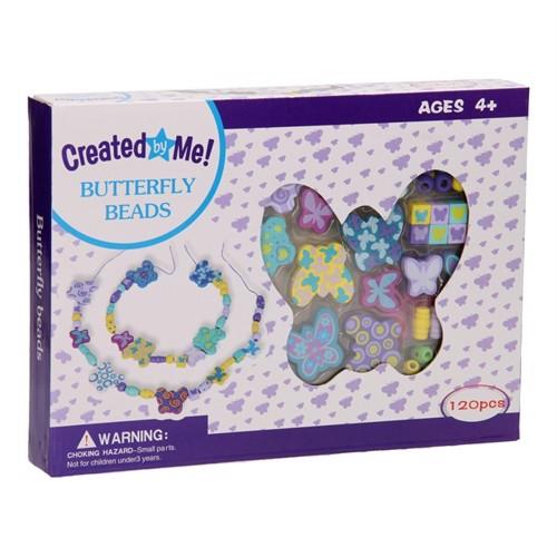 Image of Wooden Bracelets Bead Set - Butterfly, 120 pcs. (3800966027403)