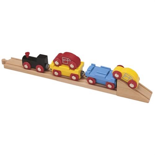 Image of Tog, Biltransporter i træ, med biler (647069508254)