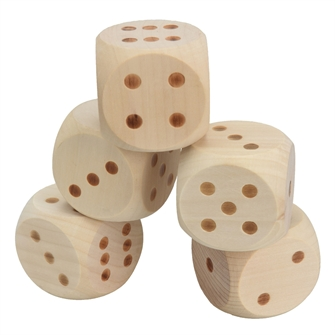 Image of Wooden Dice game XL (8719202534054)