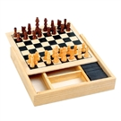 Wooden Game Box, 4in1