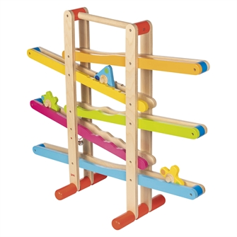 Image of Wooden Marble Track with Figures (4013594539265)