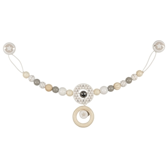Image of Wooden Pram Chain with Clip Star (4011534656805)