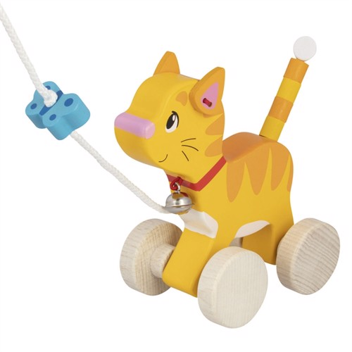 Image of Wooden pull-along cat (4013594548960)