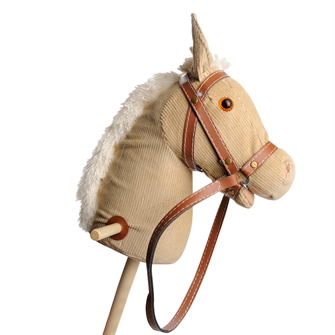 Image of Wooden stick horse with sound-White (8719348000154)