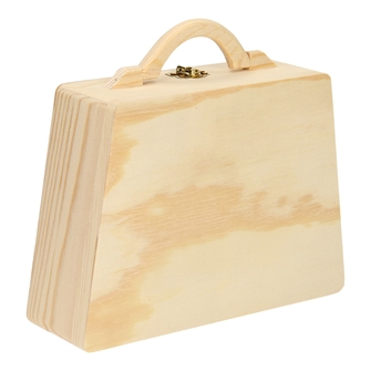 Image of Wooden storage bag with handle (8719348004626)