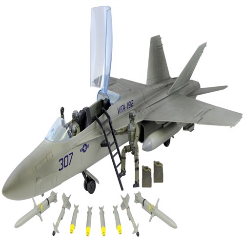 Image of Worldpeace Keepers 1:18 Boeing F/A-18 Hornet Jagerfly Inkl 2 Piloter (018859770258)
