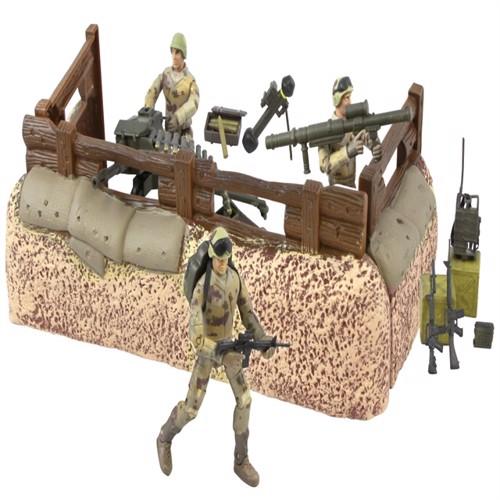 Image of Worldpeace Keepers 1:18 Militær Forsvarsenhed Inkl 3 Actionfigurer (018859770814)