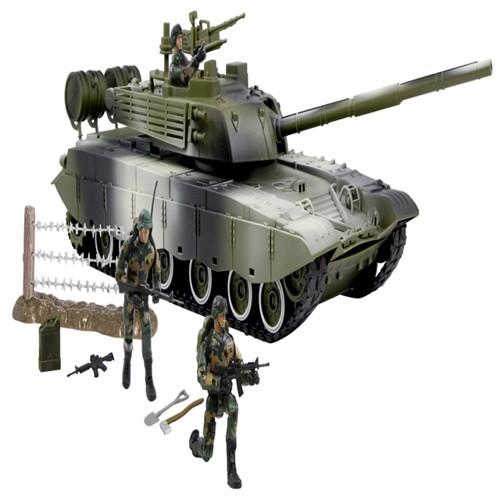 Image of World Peacekeepers 1:18 Militær Main Battletank Inkl 3 Actionfigurer (018859770371)