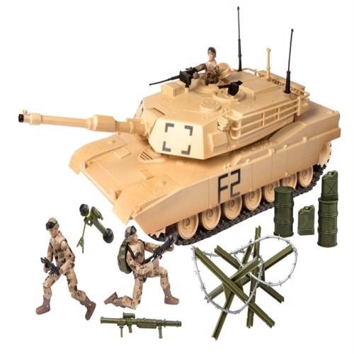 Image of World Peacekeepers 1:18 Militær Tank Inkl 3 Actionfigurer (018859770241)