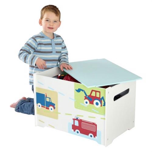 Image of Worldsapart Legetøjsbox Med Køretøjer